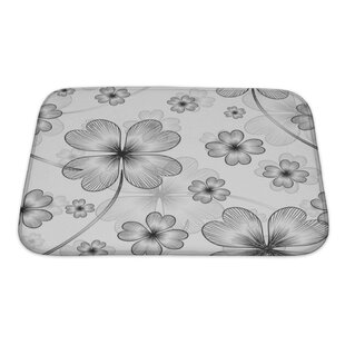 Beta Elegant with 4 Leaf Clovers Bath Rug