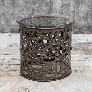 Tetonia Industrial End Table by Bungalow Rose