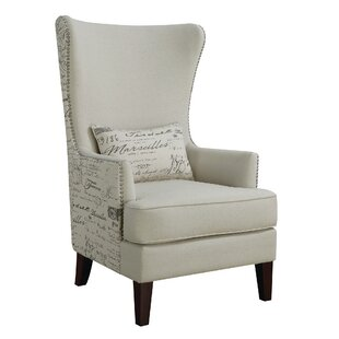 Sonali Wingback Chair by Ophelia & Co. Read Reviews