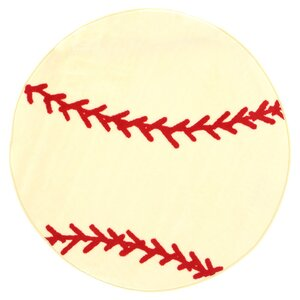 Fun Shape High Pile Baseball Sports Area Rug