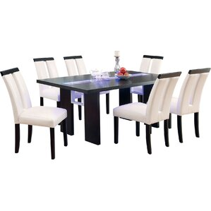Haddonfield 7 Piece LED Dining Set by Wade Logan