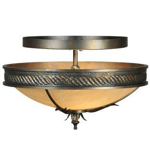 Meyda Tiffany Hoja 2-Light Semi-Flush Mount