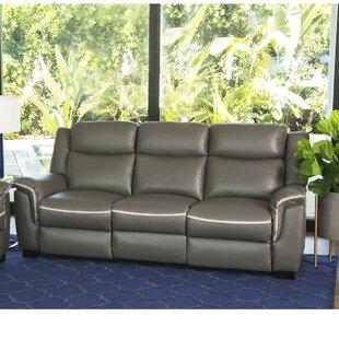 Latitude Run Toro Leather Reclining Sofa