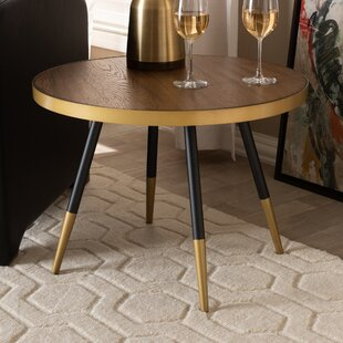 Conder Round Wood and Metal Coffee Table