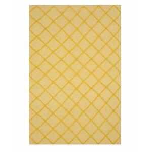 Willman Hand-Woven Wool Yellow Area Rug