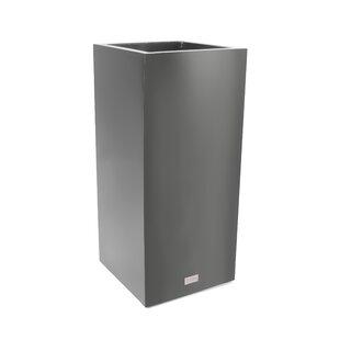 Veradek Metallic Series Pedestal Galvanized Steel Pot Planter