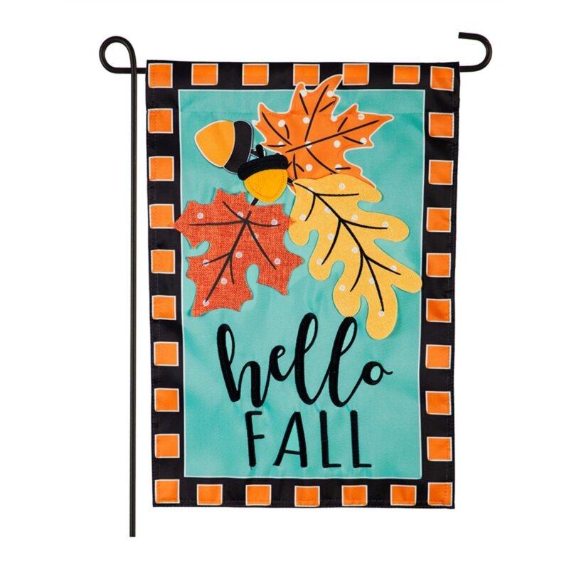 Evergreen Enterprises Inc Hello Fall Leaves 2 Sided Nylon 15 X 9 Garden Flag Wayfair