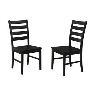 Gracie Oaks Sheetal Ladder Back Dining Chair (Set of 2)