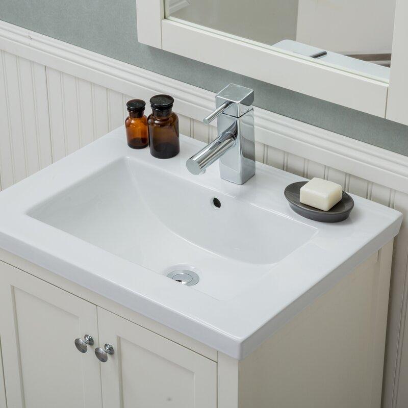 Rosecliff Heights Durso 24 Single Sink Bathroom Vanity Set