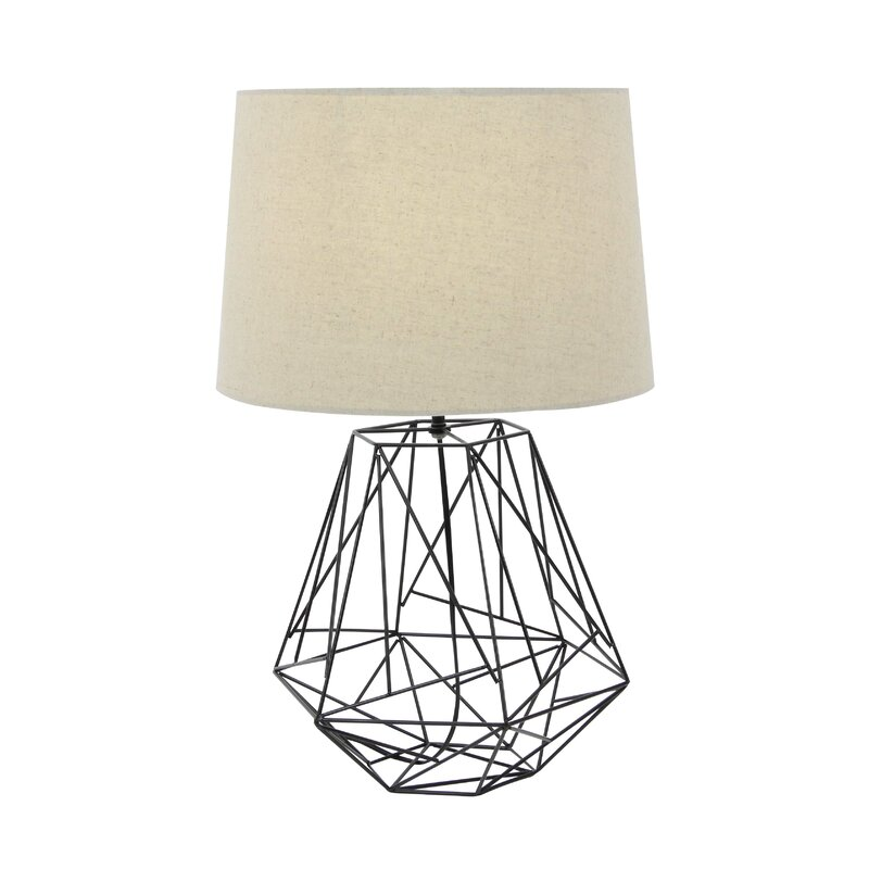 Cole grey metal wire 25 table lamp reviews wayfair metal wire 25 table lamp keyboard keysfo Image collections