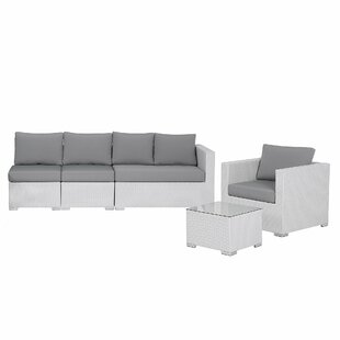 Dinh 5 Seater Rattan Sofa Set By Beachcrest Home
