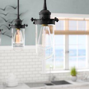 Beachcrest Home Narvaez 1-Light Jar Pendant