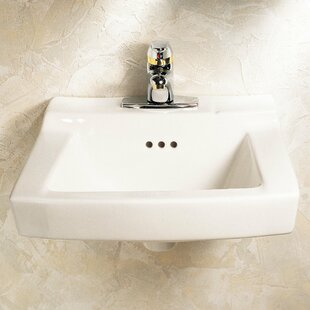 Check Prices Baby Devoro Ceramic 20 Wall Mount Bathroom Sink with Overflow ByAmerican Standard