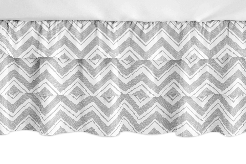 Sweet Jojo Designs Navy Blue And White Zig Zag Crib Bed Skirt Dust Ruffle For Boys Chevron Collection Baby Bedding Sets Sareg Com