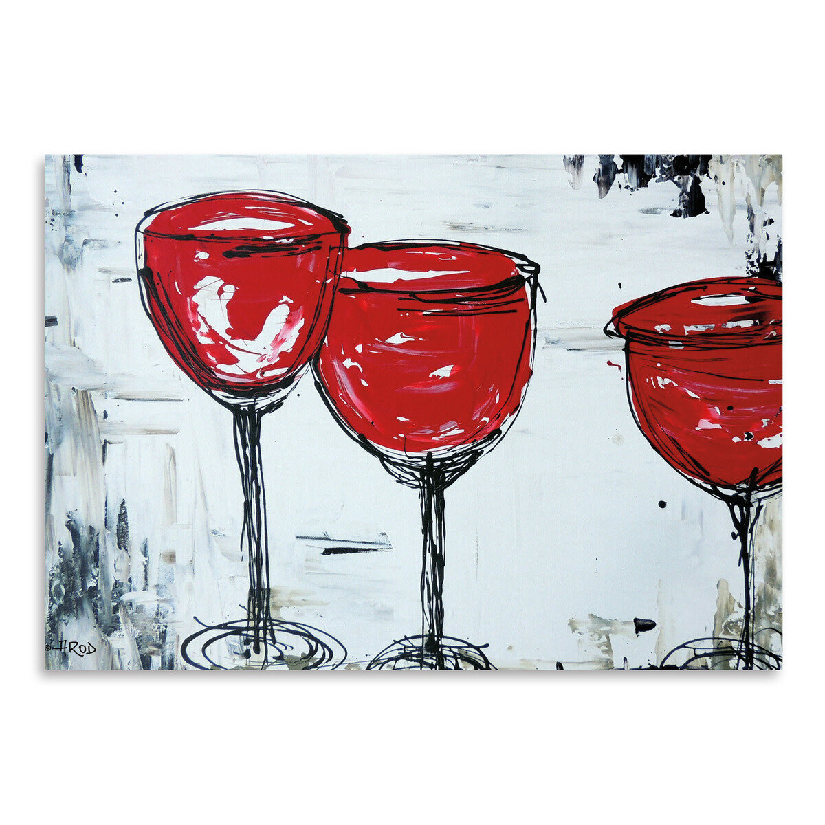 East Urban Home Vino 33 Painting Print Wayfair