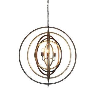 Ivy Bronx Greaney 3-Light Globe Chandelier