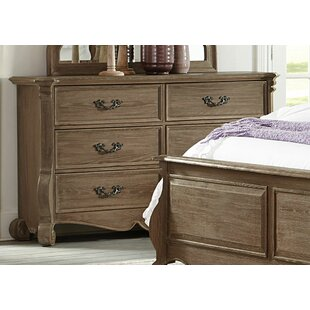 Bargain Dee Wooden 6 Drawer Double Dresser by Canora Grey