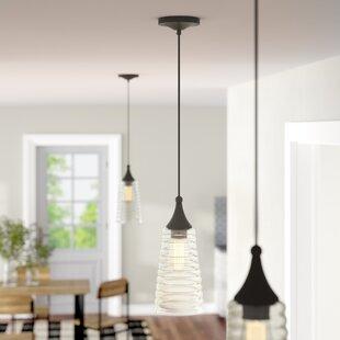 Limewood 1-Light Cone Pendant by Laurel Foundry Modern Farmhouse
