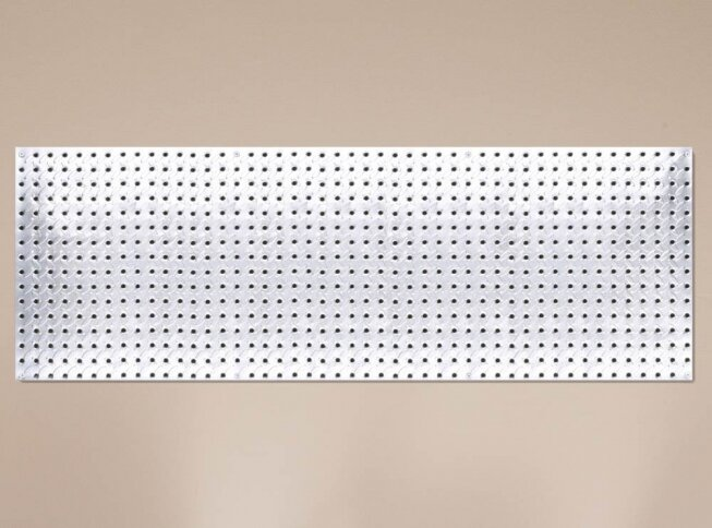 x 48 in Diamond Plate Galvanized Steel Workshop Tools Pegboard Organizer 16 in