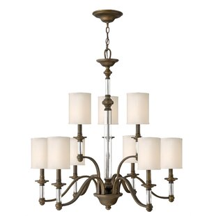 Canora Grey Harrison 9-Light Shaded Chandelier
