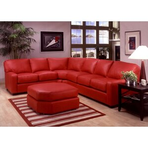 Albany Leather Sectional by Omnia Leather