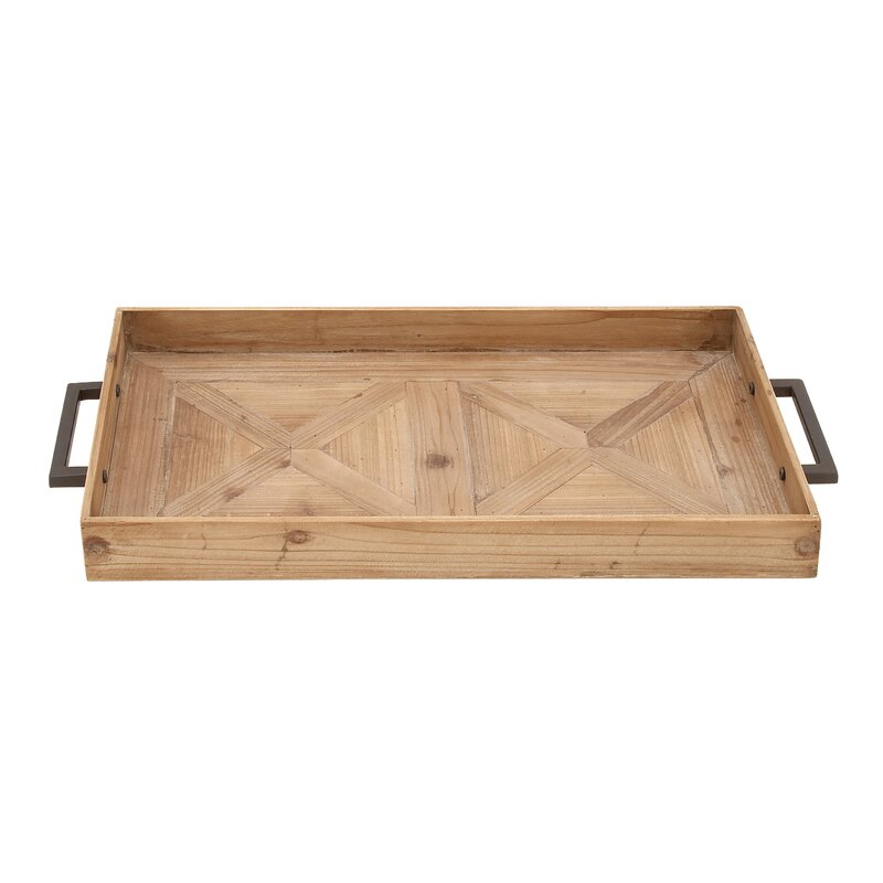 Wood Metal Accent Tray