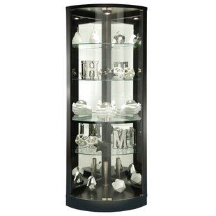 Westerleigh Lighted Corner Curio Cabinet by Red Barrel Studio