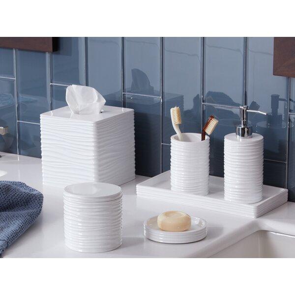 Rectangle Beige Blue Sea Shell Beach House Counter Bathroom Toothbrush Holder
