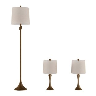 Snipes 3 Piece Table and Floor Lamp Set
