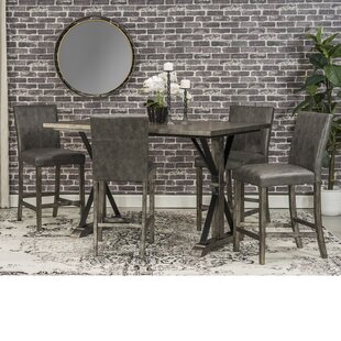 Palou 5 Piece Counter Height Dining Set by Gracie Oaks