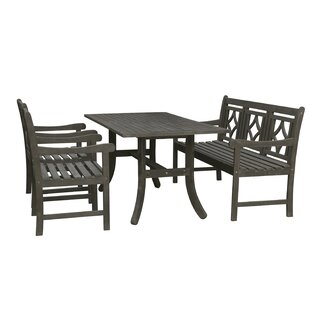 Densmore 4 Piece Patio Dining Set