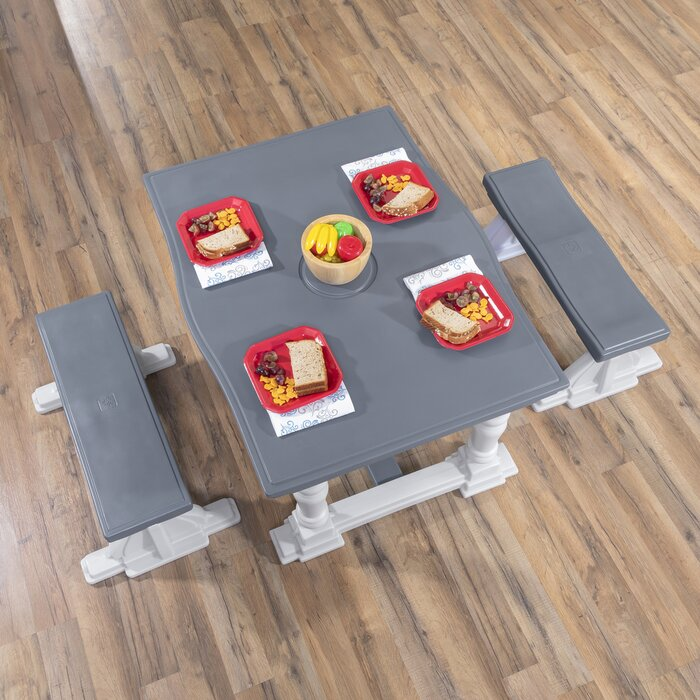 Kids 3 Piece Activity Table And Chair Set