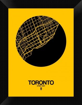 Naxart \'Toronto Street Map\' Framed Graphic Art Print on Canvas in ...