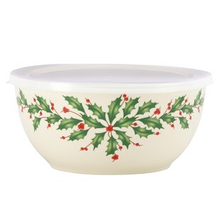 Holiday Soup Bowl with Lid