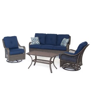 Longshore Tides Nunda 4 Piece Sofa Set with Cushions