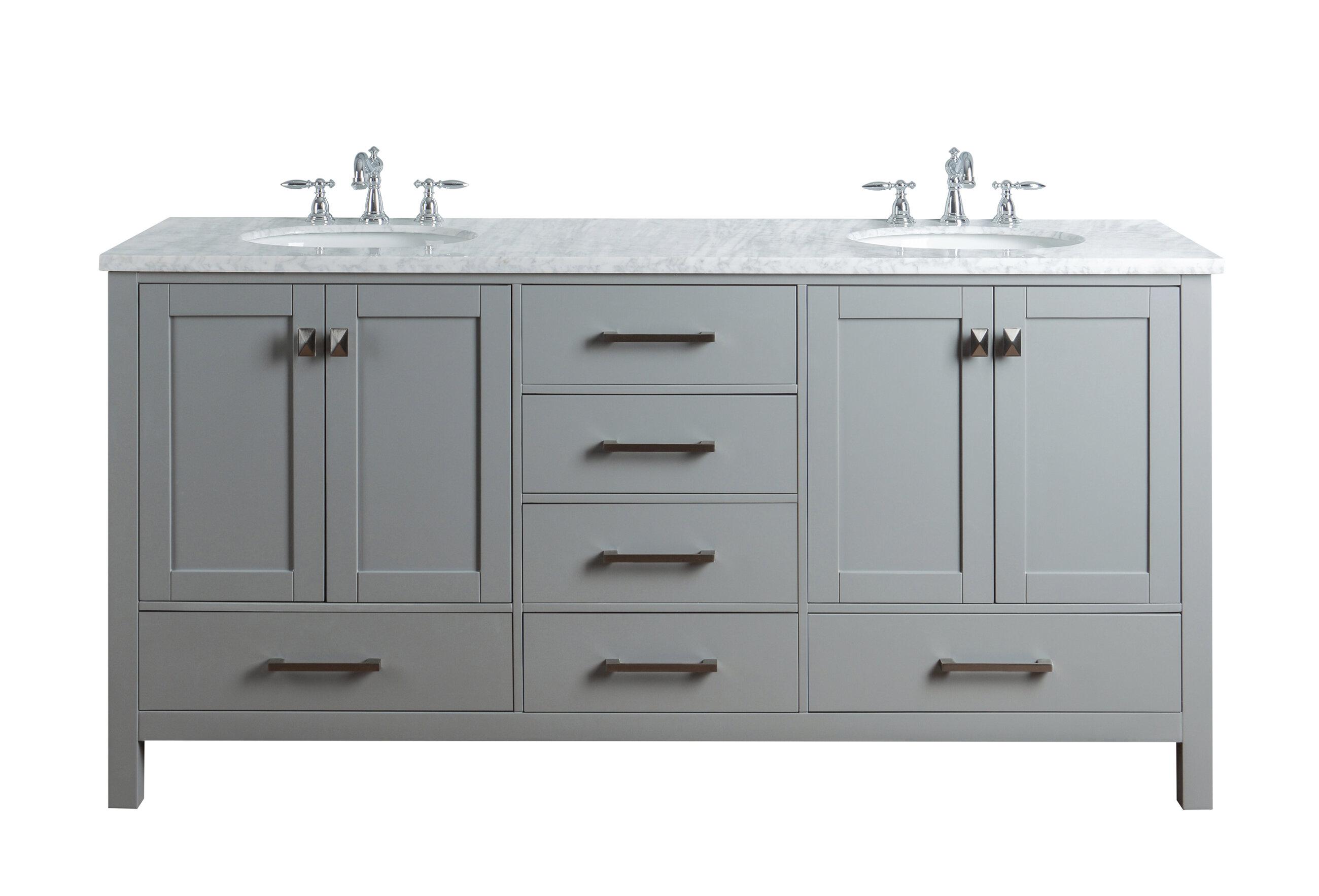 Awe Inspiring Bowlin 72 Double Bathroom Vanity Set Home Interior And Landscaping Synyenasavecom