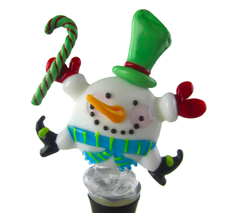Zeei Glass Round Snowman Bottle Stopper Wayfair