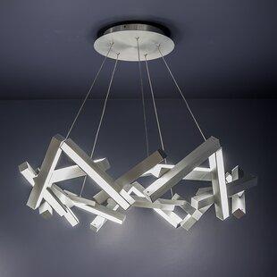 Modern Forms Chaos 21-Light LED Geometric Chandelier