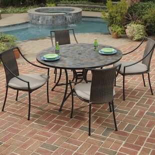 Loon Peak Sequoyah 5 Piece Dining Set with Cushions