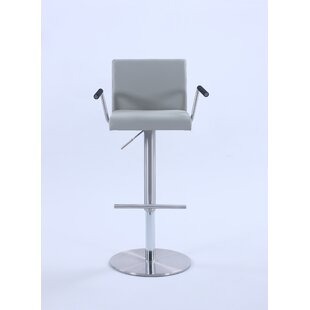 Knizair Adjustable Height Swivel Bar Stool by Orren Ellis #2