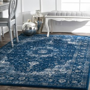 Linden Dark Blue Area Rug