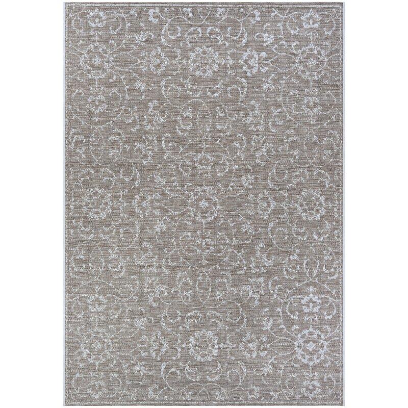 Ophelia Co Kraatz Floral Flatweave Gray Area Rug Reviews Wayfair