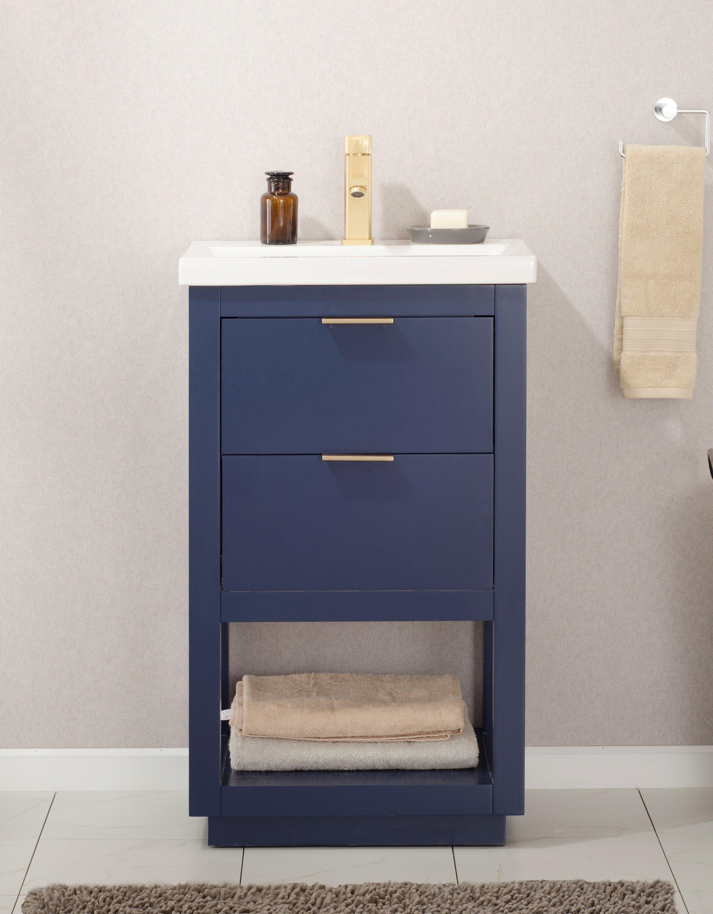 Brayden Studio Eanes 20 Single Bathroom Vanity Set Reviews Wayfair