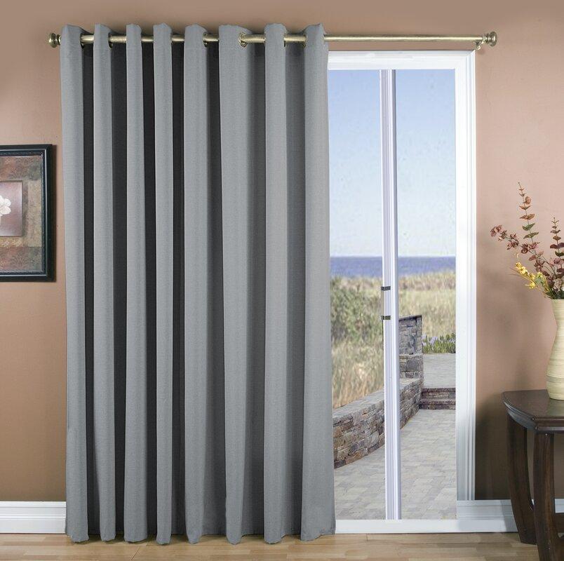 ricardo trading glasgow solid semi-sheer grommet single curtain