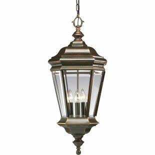 Reviews Triplehorn 4-Light Outdoor Brass Hanging Lantern By Alcott Hill