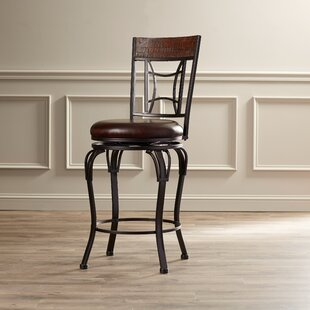 Snoqualmie Bar & Counter Swivel Stool by Red Barrel Studio