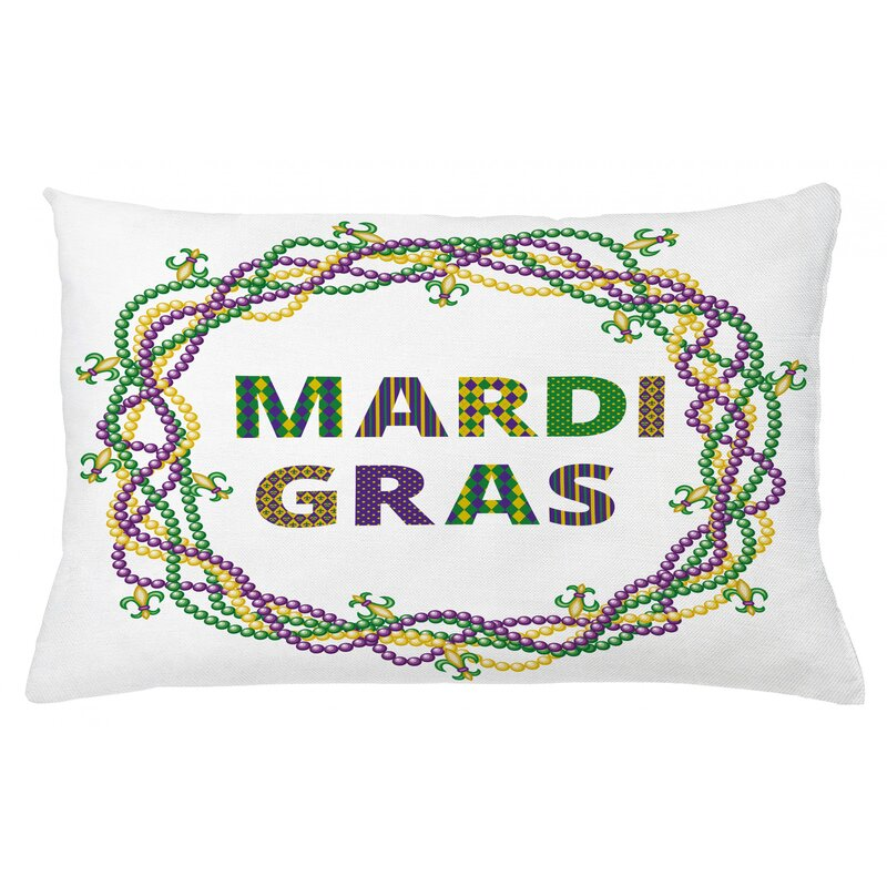 East Urban Home Mardi Gras Indoor Outdoor Throw Pillow Cover Wayfair