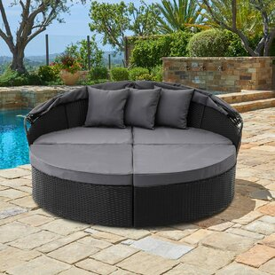 Antwan Patio Daybed With Cushions By Wrought Studio