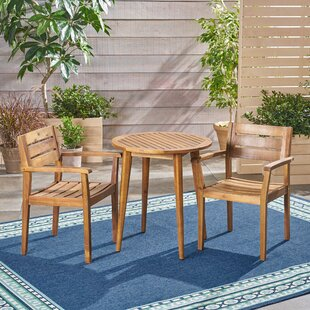 Wrought Studio Coopers Corner Outdoor 3 Piece Bistro Set