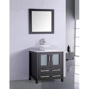 Camillo 30 inch  Single Bathroom Vanity Set with Mirror